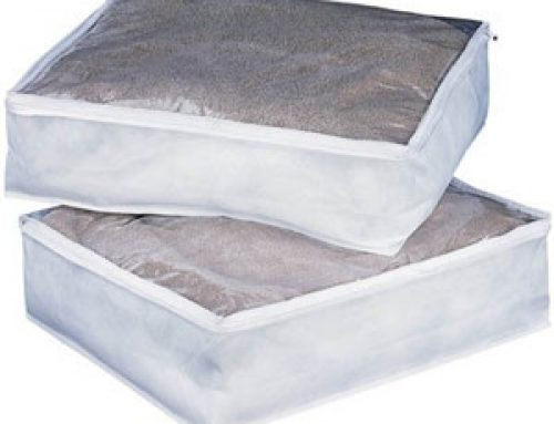 Clear blanket storage bag