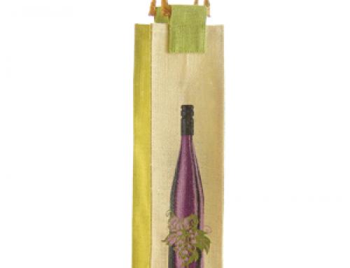 WB-011 Jute tote wine bag