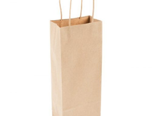 WB-07 Craft paper one bottle bag