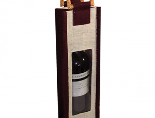 WB-09 Jute wine bag